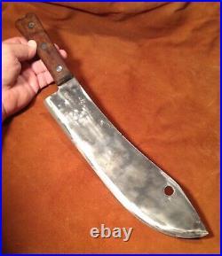 Giant! Vintage VILLAGE BLACKSMITH Buffalo Skinner/ Lamb Splitter, Butcher Knife
