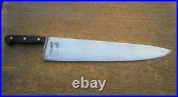 HEAVY-DUTY Vintage F. DICK Germany 20 Carbon Steel Chef Knife RAZOR SHARP