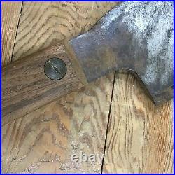 HUGE Antique L & I. J. White Hog Splitter Cleaver 12 Blade 29 OAL Nice Handle