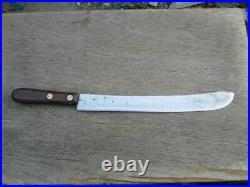 HUGE Antique LF&C Double-Shear Carbon Steel Chef's Butcher Knife RAZOR SHARP