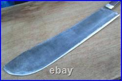 HUGE Old Foster Bros. Bolstered Carbon Steel Buffalo Skinner/Lamb Splitter Knife