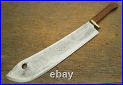 HUGE Old Foster Bros Buffalo Skinner/Lamb Splitter Knife withRARE Bolstered Grip