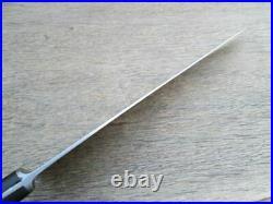 HUGE Old Landers Frary & Clark WIDE 19.25 Carbon Steel Chef Knife RAZOR SHARP