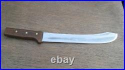 HUGE Vintage Dexter HG Carbon Steel Chef's Butcher Breaking Knife RAZOR SHARP
