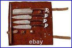 Handmade damascus chef/Kitchen set. 5 Pieces. Home & Restaurant Use. #chefset
