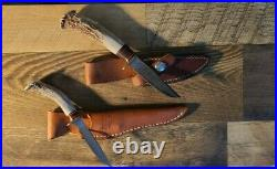 Hess Knife Made in Gladstone Michigan Two knives both with sheaths