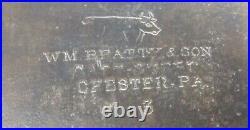 Huge Vintage 1839 -1882 WM Beatty & Son Meat Cleaver Butcher Knife Hog Splitter