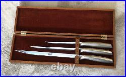 Knife Set Gerber-12 Chef's Knives Carbon Steel Blades Excalibur Balmung Durendal