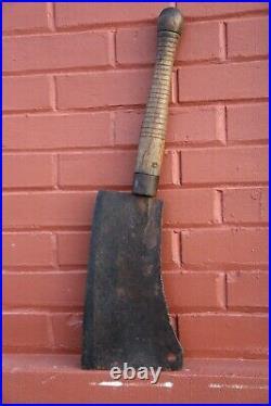 LARGE Vintage Antique Hog Splitter Meat Cleaver Butcher Knife 11 Blade 2 L