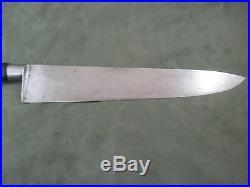 La Trompette Pouzet Medaille d Or 11 inch Sabatier Carbon Steel Chef's Knife