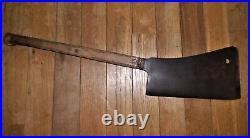 Large 30 and Heavy Antique L. & I. J. White #12 Hog Splitter Butcher Meat Cleaver