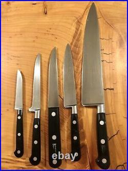 Lot of (5) Sabatier Inox Rowoco Elephant France Kitchen Knives
