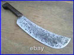 MASSIVE Antique French Chef's or Butcher's Lamb Splitting Knife RAZOR SHARP