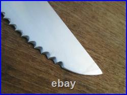 MINT Vintage DEHILLERIN Au Nain France Chef's MASSIVE Serrated Fishmonger Knife