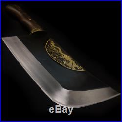 Manganese steel Heavy Duty Meat Cleaver Chef Knife Butcher Chopper pork knife