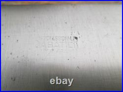 NICE Vintage SABATIER PROFESSIONAL Carbon Steel Chef Knife withRAZOR SHARP 12 Bld