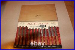 NOS Vintage Store Display OLD HICKORY Paring Knives with 12 Knives AWESOME
