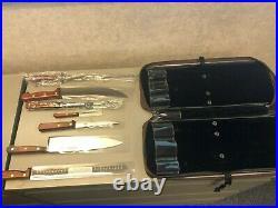 New Vintage Dexter Russell Connoisseur Carving Knife Set withOriginal Leather Case