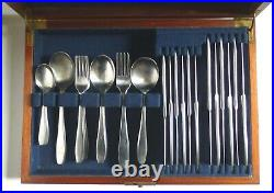 OLD HALL Vintage CAMPDEN 44 pc Canteen. Robert Welch Stainless Steel Cutlery Set