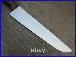Older Vintage F. HERDER Solingen, Germany Carbon Steel Chef Knife withWalnut Grip