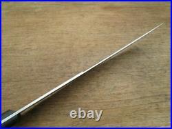 Older Vintage Gustav Emil Ern BIG Carbon Steel Cimeter Butcher Knife RAZOR SHARP