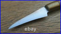 Our Own Custom-Made ralph1396A Vintage Carbon Steel Curved Chef Veg Paring Knife