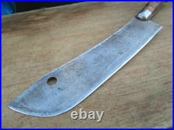 RARE Antique BEATTY Carbon Steel Buffalo Skinner/Lamb Splitter Knife RAZOR SHARP