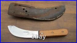 RARE Antique FOSTER BROS. Carbon Steel Hunting Trade Skinning Knife withSheath