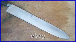 RARE Antique HUMPHREY's & CO. Sheffield Carbon Steel Chef Knife RAZOR SHARP