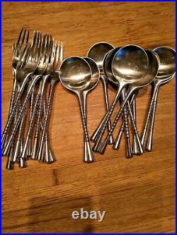 RARE Jette Dansk stainless steel Design 12 settings by Quistgaard 73 PCS