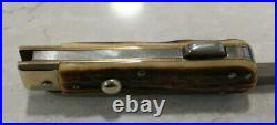 RARE Vintage Knife J. A. Henckels Bowie Folding Guard Stag WILD BOAR Hunting