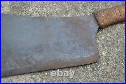 RARE Vtg Antique #13 FOSTER BROS Hog Splitter Large Meat Cleaver 13 Blade 31 L