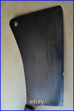 RARE Vtg Antique #13 FOSTER BROS Hog Splitter Large Meat Cleaver 13 Blade 34 L