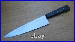 RAZOR SHARP Larger Vintage DUE CIGNI Italian Hand-forged Carbon Steel Chef Knife