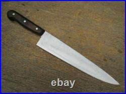 RAZOR SHARP Vintage F. Dick Germany XL Carbon Steel Chef Knife withEbony Handle