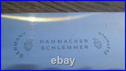 RAZOR SHARP Vintage HAMMACHER SCHLEMMER/Wusthof XL Stainless Chef Knife withEbony
