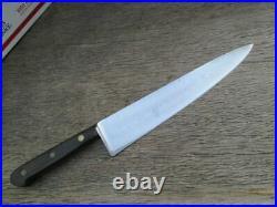 RAZOR SHARP Vintage Sabatier Carbon Steel 9.75 Chef Knife withRARE German Bolster