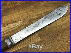 Rare Antique Prussia Germany Pewter Trade Prussian Green River Butcher Knife Vtg