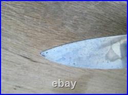 Rare UNUSED Older Vintage Henckels XL Carbon Steel Chef Knife withEbony SUPERB
