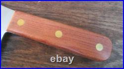 Rare UNUSED Vintage FORSCHNER Chef's Carbon Steel Meat Cleaver Knife withOrig. Box