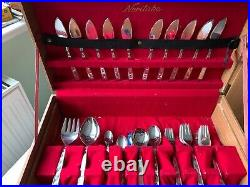 Retro Vintage Noritake Japanese Cutlery Canteen Set 92 Pieces La Seine Pattern