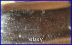 SABATIER, Jeune Chef Knife, Grape Logo, 10 Carbon Steel, BIA Cordon Bleu France