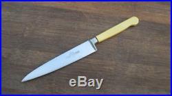SUPER-FINE Antique Edwardian JOS. RODGERS Carbon Steel Sabatier-style Chef Knife