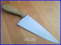 SUPERB Vintage Custom MH Hand-forged Japanese Carbon Steel WIDE Chef Knife