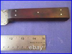 Sabatier Acier Fondu Archer Brand 11.5 inch Carbon Steel Bull Nose Butcher Knife