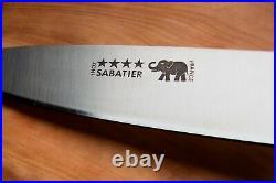Sabatier Four Star Elephant 8 inch Chef Knife White Micarta Handle