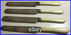 Set of 4 Vintage Antique Joseph Rodgers & Sons Cutlers to Her Majesty Knives VR