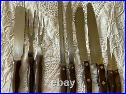 Set of Cutco knives with wall hanger rack 8 pc sharpener