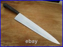 UNUSED Older Vintage Henckels Carbon Steel Chef Knife withRARE 11 Blade SUPERB