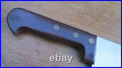 UNUSED Vintage SABATIER France Chef's 22 2-hand Carbon Steel Cheese Wheel Knife